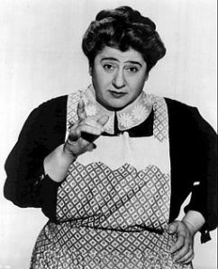 "Photo of Gertrude Berg as Molly Goldberg, television's best known Jewish mother, from the program ""The Goldbergs."" By The Bureau of Industrial Service for CBS Television. Via Wikimedia Commons."